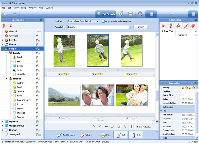 PicaJet Photo Manager helps you automatically manage 1000s of your digital photos in seconds. If you have a large photo collection and need an efficient way to organize it, this is the software you