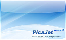 PicaJet Photo Organizer Splash Screen